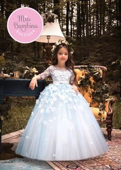 A satin Flower Girl dress with contrasting full tulle skirt. She will look adorable in this beautiful long tutu dress with its wide tulle contrasting skirt, worldwide shipping from Canada Cute Flower Girl Dresses, Girls Tutu Dresses, Tulle Flower Girl, Tutus For Girls, Little Girl Dresses, Tulle Flowers, Wedding Dresses 2018, Designer Wedding Dresses, First Communion Dresses