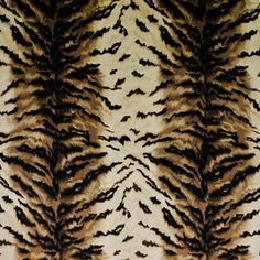 Roar! Andorra Tiger Silk Upholstery Fabric made in India by Ralph Lauren