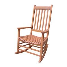 International Concepts Natural Acacia Patio Rocking Chair R-53930