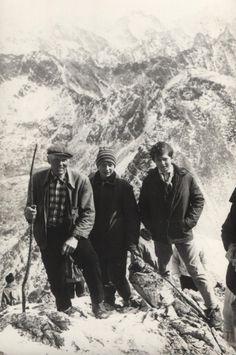 Vrcholová fotka z výstupu Štepitovcov na Kriváň - fotoarchív:Ľubomír Štepita - september 1968