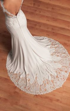 6610 Elegant Backless Wedding Gown by Stella York Lace Wedding Dress, Amazing Wedding Dress, Wedding Dresses 2018, Backless Wedding, Princess Wedding Dresses, Lace Dress, Ball Dresses, Ball Gowns, Mermaid Bride Dresses