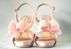 LOVE!! Bridal Shoes: Pink & Gold Wedding Inspiration {rose/blush pink with pale/antique gold}