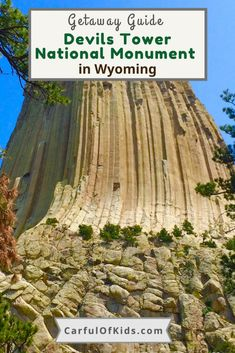 Visit Devils Tower National Monument in Wyoming. Here's all the details like what to do, where to hike, and where to stay while exploring this national treasure. #NationalParks #NPS #Wyoming #DevilsTower What to do in Devils Tower | Where to stay near Devils Tower | Road Trip Stops in Wyoming National Park Lodges, Badlands National Park, National Parks, Family Road Trips, Family Travel, Free Travel, Travel Usa, Amazing Destinations, Travel Destinations