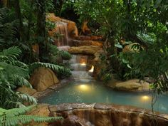 Los Perdidos Springs (The Lost Springs) and Las Lagunas (The Lagoons) are located at The Springs Resort and Spa.