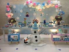 Festa Frozen: passo a passo e 85 ideias encantadoras Frozen Birthday Party, Frozen Party, 2nd Birthday, Birthday Parties, Olaf, Frozen 1, All Things, Lima, Party Ideas