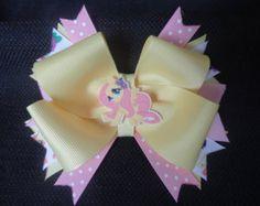 Mi pequeño Pony arco inspirado rainbow dash 5 por CatyRoseBows