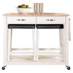 Found it at Wayfair - 3 Piece Kitchen Cart Set in White