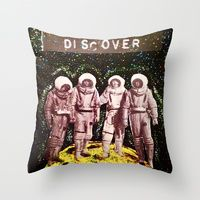 Throw Pillow featuring Discover by LadyJennD