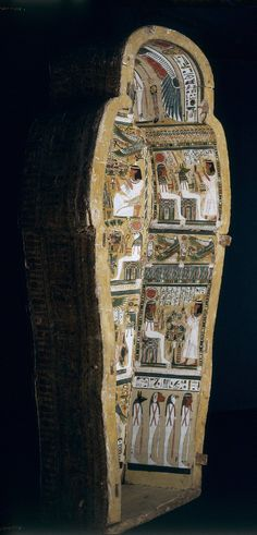Wooden anthropoid coffin of Bakenmut, ca.1000-900 B.C.E, Third Intermediate Period