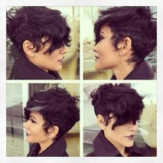 Beautiful pixie long bang