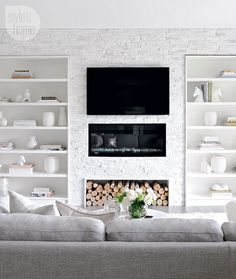 Modern and muted media room {PHOTO: Tracey Ayton}