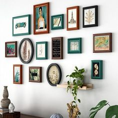 US Delicate Wall Mount Wood 26 PCs Multi Picture Collage Photo Frames Home Decor
