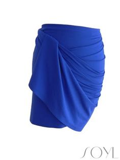 """DIY Draped Skirt- no glue, no sewing, sarong style.  By Soraya, """"Newbie Designer from Amsterdam living in Munich, Germany. Lovesoyl.com is about my personal style and ideas on Fashion."""""""