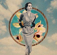 Sammy Slabbinck combines different vintage photographs together to create surreal collages.