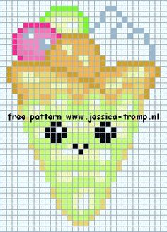 Birthday ice cream cross stitch. Jessica X-S.