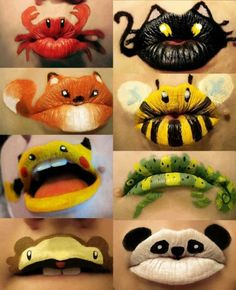 Hilarious Facts, Pictures, Quotes and Information at Internet: Unusual make up Art for Lips