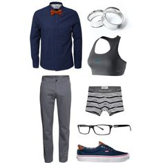 A fashion look from November 2013 featuring H&M pants and NIKE sports bras. Browse and shop related looks. Butch Fashion, Androgynous Fashion, Tomboy Fashion, Fashion Outfits, Androgynous Girls, Queer Fashion, Androgyny, Tomboy Look, Tomboy Chic