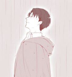 Attack on Titan ~~ Not even the rain can wash away his sense of responsibility and profound grief. :: Levi