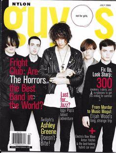 Nylon Guys magazine The Horrors Ashley Greene Anton Yelchin Elijah Wood Style