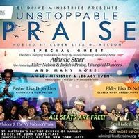 The Unstoppable Praise Concert will lift your spirits and empower you through the ministry of music and arts!   Don't miss the life-changing testimony by