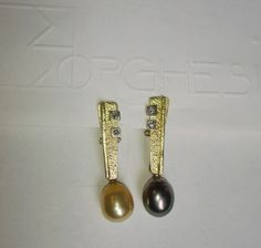 Tahiti black Pearl and jellow Australian Pearls, Gold and Diamonds…