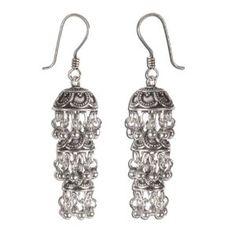 [Accessoires de mode] Bijoux indiens pour femme - Pendants d'oreilles triple clochettes en argent sterling 925 - Idée cadeau - Boucles d'oreilles ethniques: ShalinCraft: Amazon.fr: Bijoux