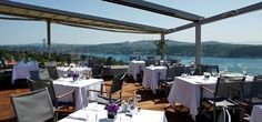 Conrad Istanbul Bosphorus Hotel - Summit Bar & Terrace for drinks before dinner at Tugra