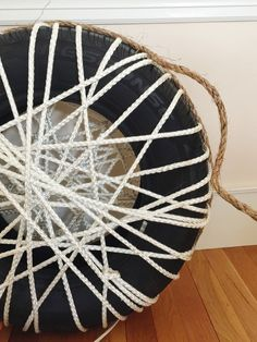 Diy Make a Rope Ottomans Chair with Old Tire Patio & Outdoor Furniture