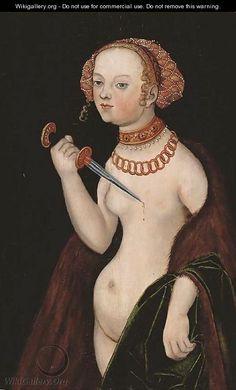 Lucretia - (after) Lucas The Younger Cranach