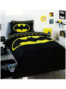 Batman Bedding Quilt Cover Set Single Black Logo Superhero DC Comic Boys  Kids. Bedroom Decorating ...
