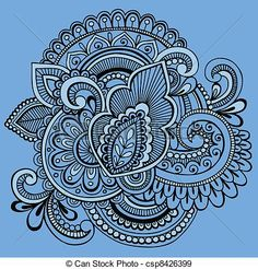 Vector - Henna Abstract Ornate Doodle Vector - stock illustration, royalty free illustrations, stock clip art icon, stock clipart icons, logo, line art, EPS picture, pictures, graphic, graphics, drawing, drawings, vector image, artwork, EPS vector art