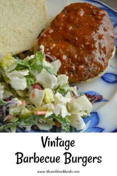 Vintage Barbecue Burgers made with Tomato Soup Tomato Sauce Crockpot, Recipe Using Tomatoes, Baked Hamburgers, Hamburger In Crockpot, Barbecue Burgers, Hot Dog Sauce, Crockpot Recipes, Cooking Recipes, Big Burgers