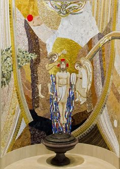 Fonte Religious Architecture, Sacred Art, Mosaic Art, Temples, Statues, Mystery, Clip Art, Angel, Painting