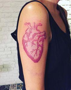 Cross Stitch Tattoo Design