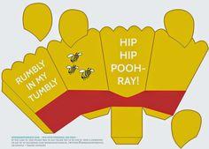 Winnie the Pooh: Caja de Popcorn para Imprimir Gratis.