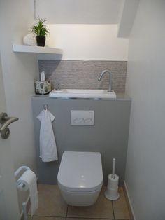 Small Bathroom Renovations 1548181100989694 - Cliquez pour agrandir Source by mguinamant Tiny House Bathroom, Bathroom Toilets, Laundry In Bathroom, Small Bathroom, Bathrooms, Small Toilet Decor, Small Toilet Room, Wc Design, Toilet Design