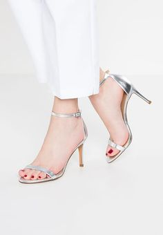 Banana Republic Sandals - silver for with free delivery at Zalando Banana Republic, Huaraches, Strappy Sandals, Stuart Weitzman, Peep Toe, Heels, Silver, Free Delivery, Fashion