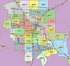 Zip Code Map Las Vegas Clark County NV Zip Codes Zip code map