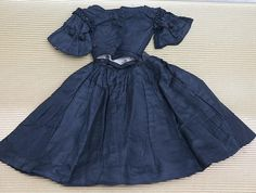 Antique French Original Black Taffeta dress for fashion doll about from respectfulbear on Ruby Lane