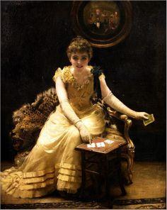 Thomas Benjamin Kennington (British, 1856-1916)-the ace of hearts