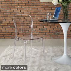 Gridley White Plastic Modern Dining Chair Set (Set of 2) | Overstock.com Shopping - The Best Deals on Dining Chairs