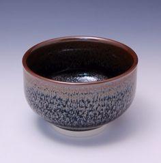 bol à thé en porcelaine / oil spot glaze / temmoku  HsinChuen Lin (Fremont, Californie, États-Unis)