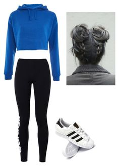"""""""Untitled #60"""" by haileymagana on Polyvore featuring Topshop, adidas Originals and adidas"""