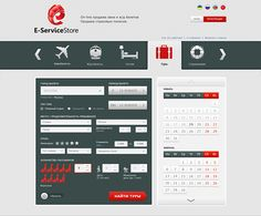 E-ServiceStore / Plane tickets, train tickets, hotels on Web Design Served