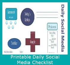 Printable Social Media Checklist - this is very informative n great :)