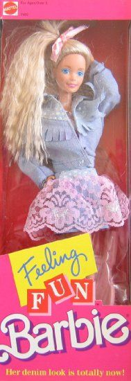 Feeling Fun Barbie Doll (1988 Mattel Hawthorne): Toys & Games I had this one I thought it was so cool her hair was crimped!