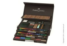 «Faber-Castell» - is the most famous brand in the world for the production of branded pencils. As a sign of its 250-year celebration, the company provided us with a limited collection of exclusive sets for the artist Faber-Castell 250th Anniversary Collection Wooden Box. Each box has a certificate and serial number. http://hmstore.com.ua/store/limitirovannaya-kollektsiya/nabor-tsvetnyih-karandashey-faber-castell-250th-anniversary-collection-wooden-box--limited-edition-110050