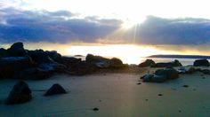 Alderney point on Shell Beach, Herm Island - sunrise March 2012
