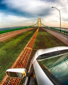 The Mackinac Bridge is the longest suspension bridge in the western hemisphere. The total length of the Mackinac Bridge is 26,372 feet.