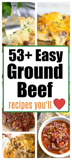 Easy ground beef recipes to make in the oven, air fryer, Crockpot or Instant Pot easily. #groundbeefrecipes #groundbeef Beef Steak Recipes, Crockpot Recipes, Soup Recipes, Beef Meals, Diet Recipes, Recipies, Cooking With Ground Beef, Ground Beef Recipes For Dinner, Easy Dinner Recipes